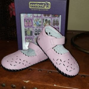 Pediped pink leather new shoes